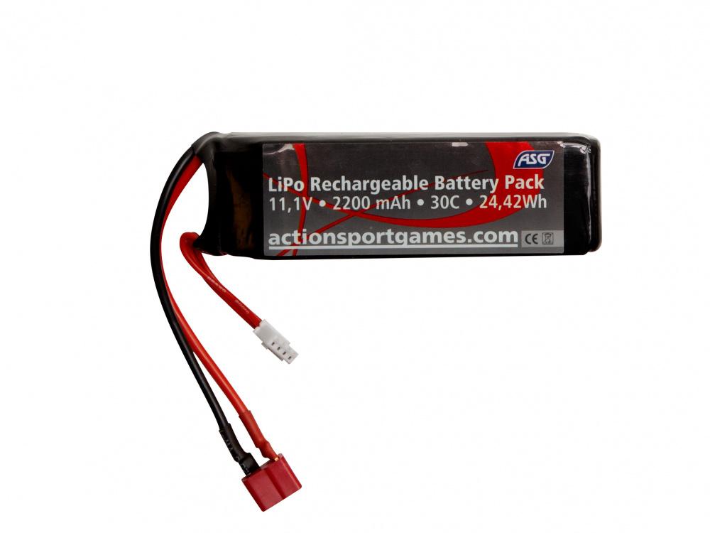 ASG Batteri LIPO 11.1V 2200 mAh 30C T Plug Game On
