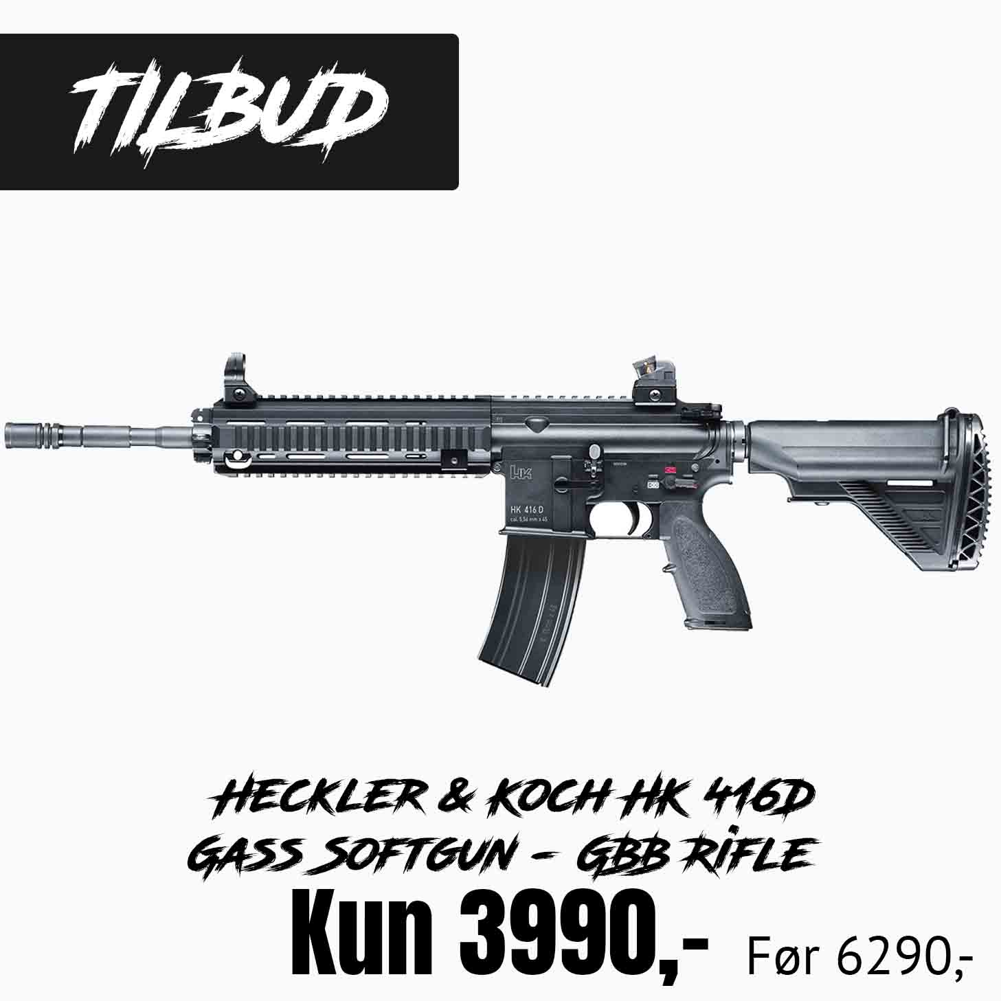 Heckler & Koch HK 416D Gass Softgun - GBB Rifle