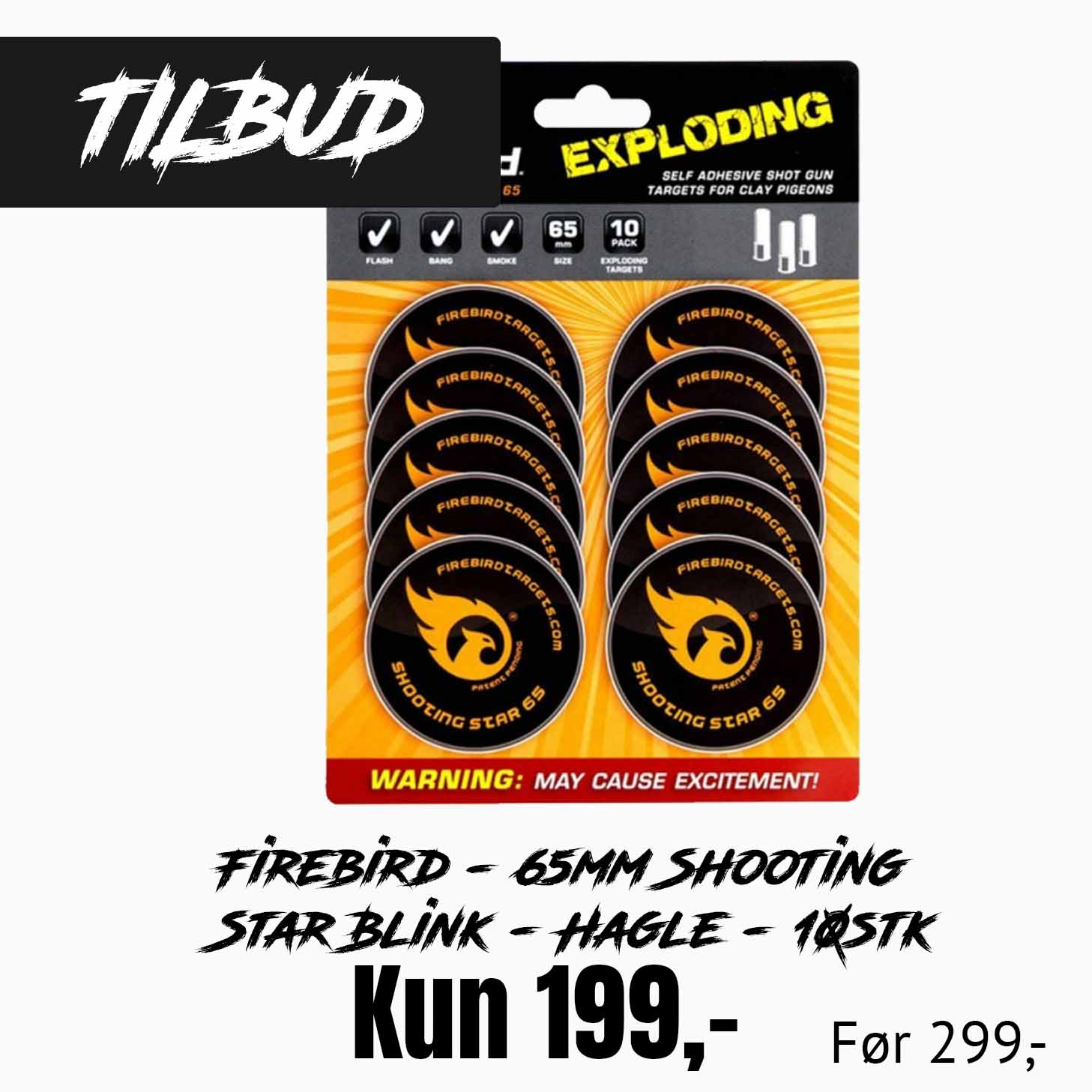 Firebird - 65mm Shooting Star Blink - Hagle - 10stk