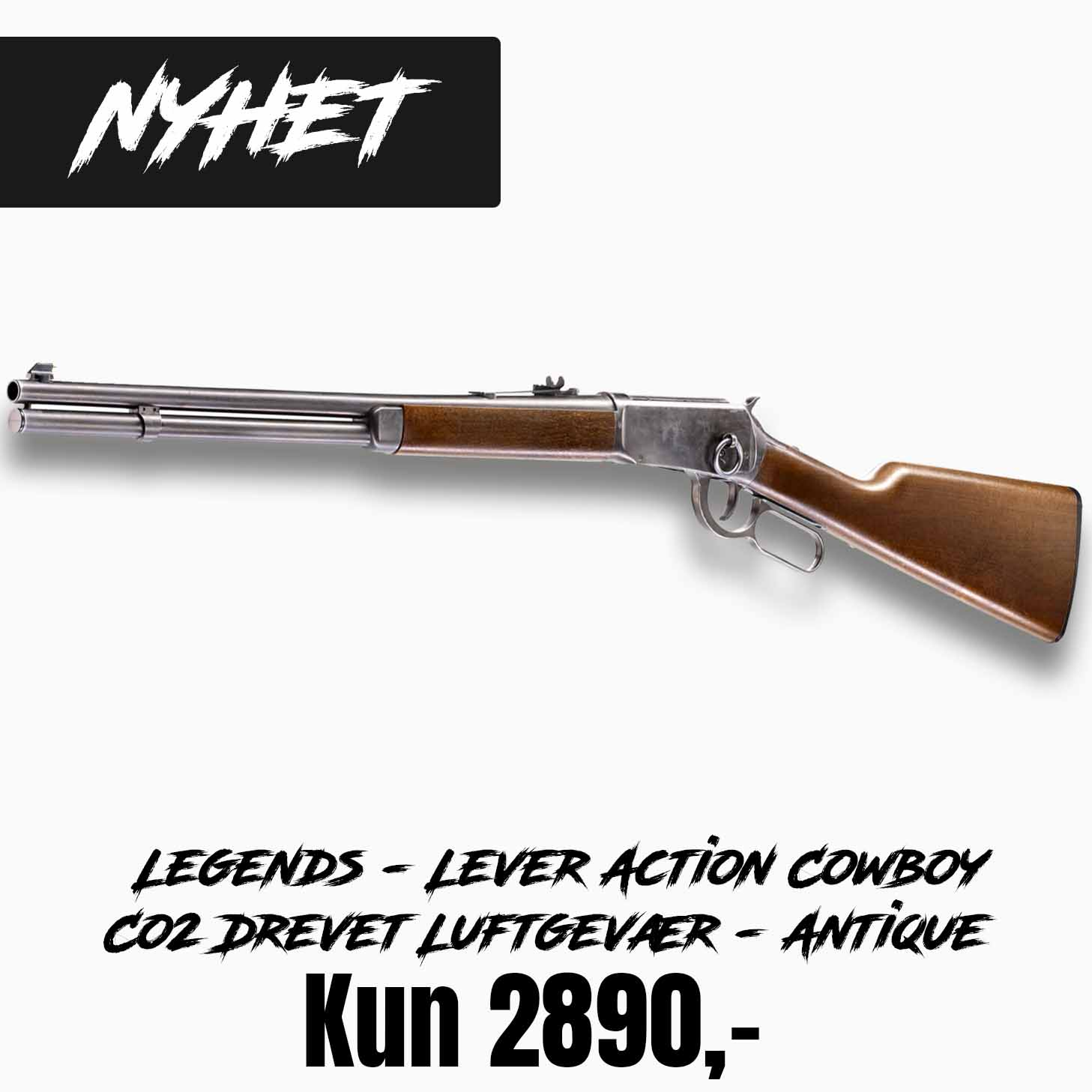 Legends - Lever Action Cowboy Co2 Drevet Luftgevær - Antique