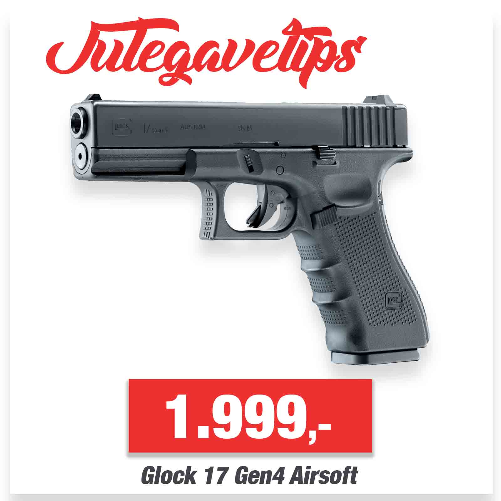 Glock 17 Gen4 Airsoft - Co2 med Blowback - GBB