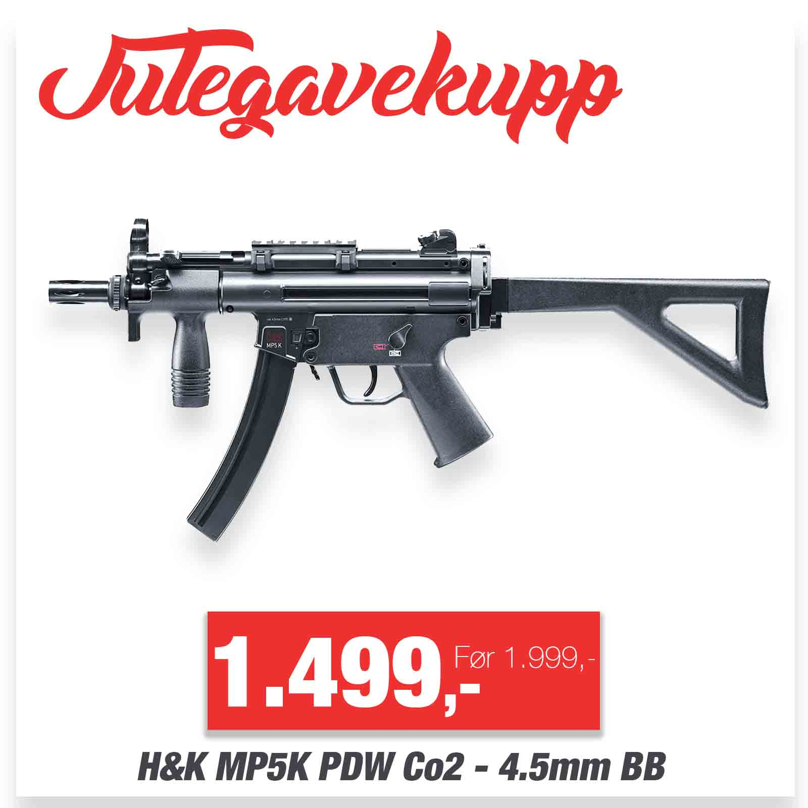 H&K MP5K PDW Co2 Maskin Pistol - 4.5mm BB