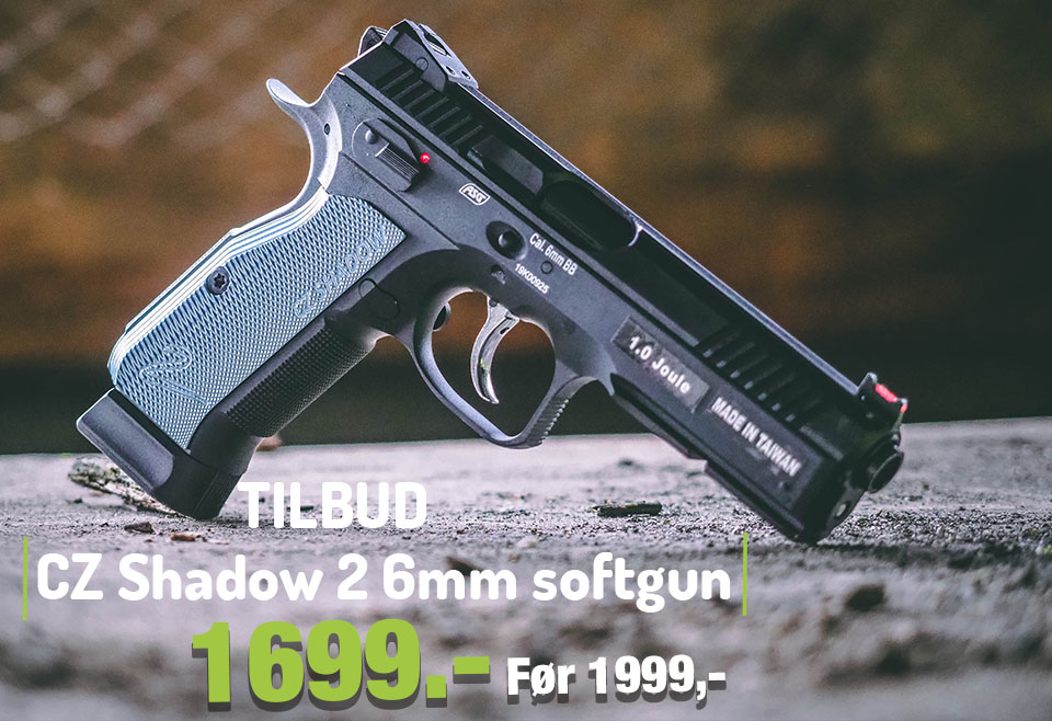 CZ Shadow 2 med Metal Slide og Blowback - 6mm Softgun
