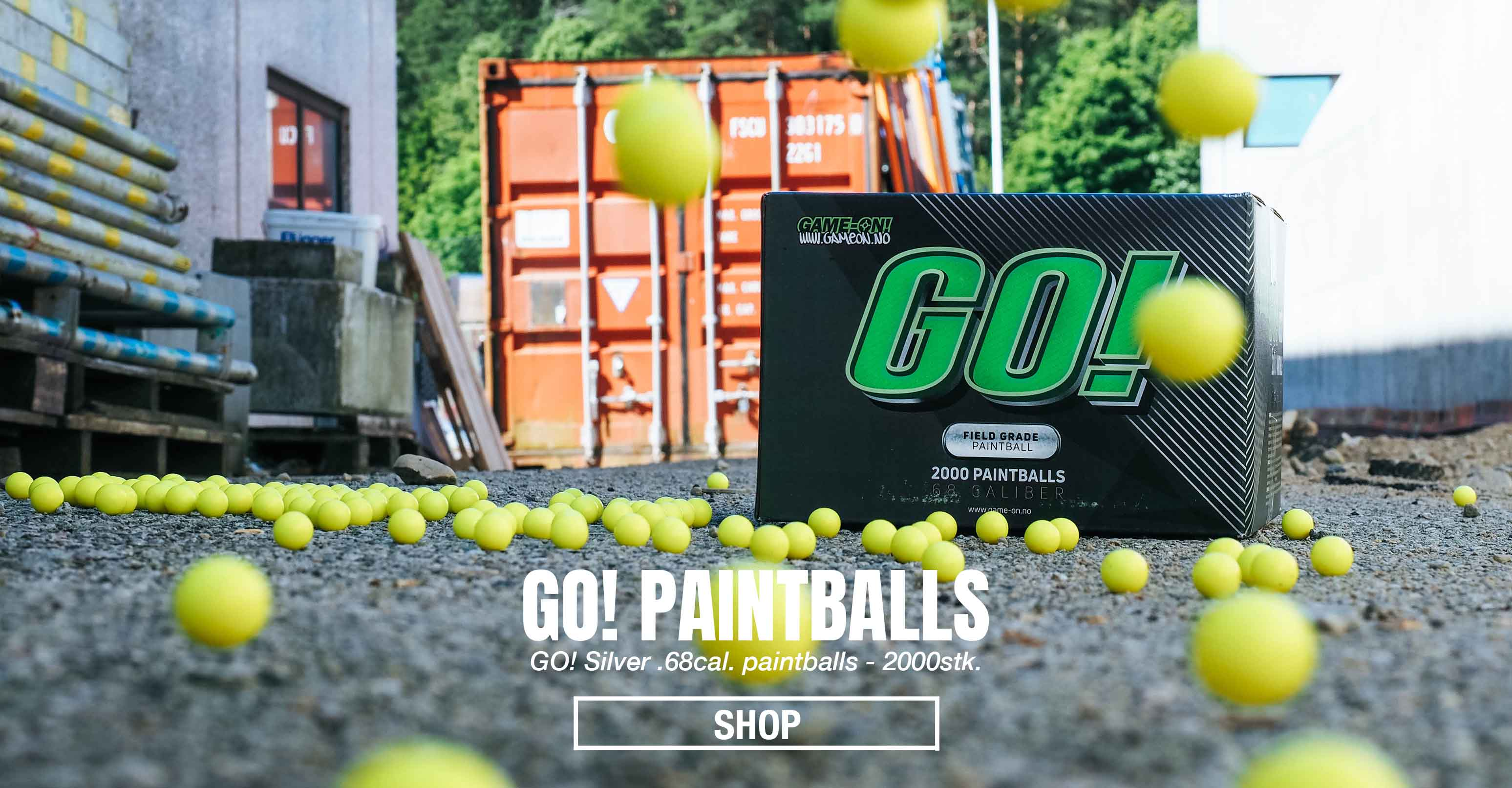 GO! Paintballs - Silver - 2000stk